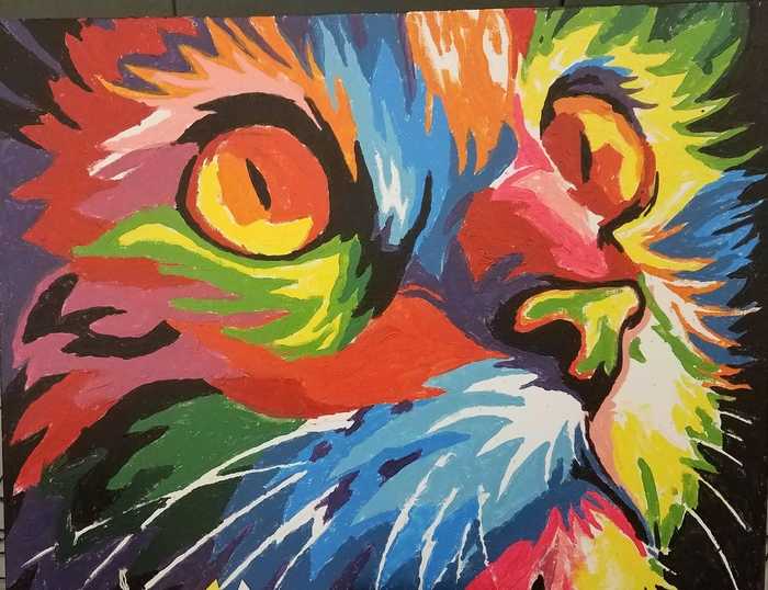 District 4 People S Choice The Psychedelic Cat Polly Payne Jennings
